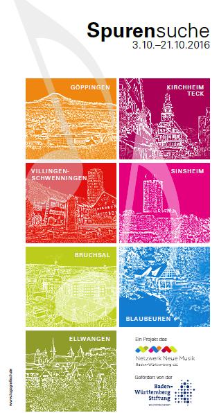 Frontseite Flyer für Spurensuche Homepage