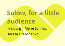 Solow, for a little audience
